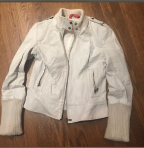 White leather mackage jacket - manteau de cuir blanc