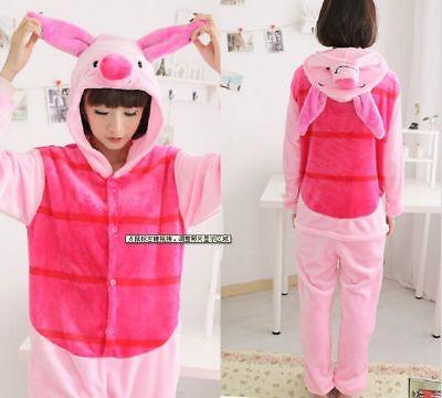 Piglet Pig Kigurumi Pajamas Anime Cosplay Costume Unisex Adult Pyjama Sleepwear](Piglet Pajamas)
