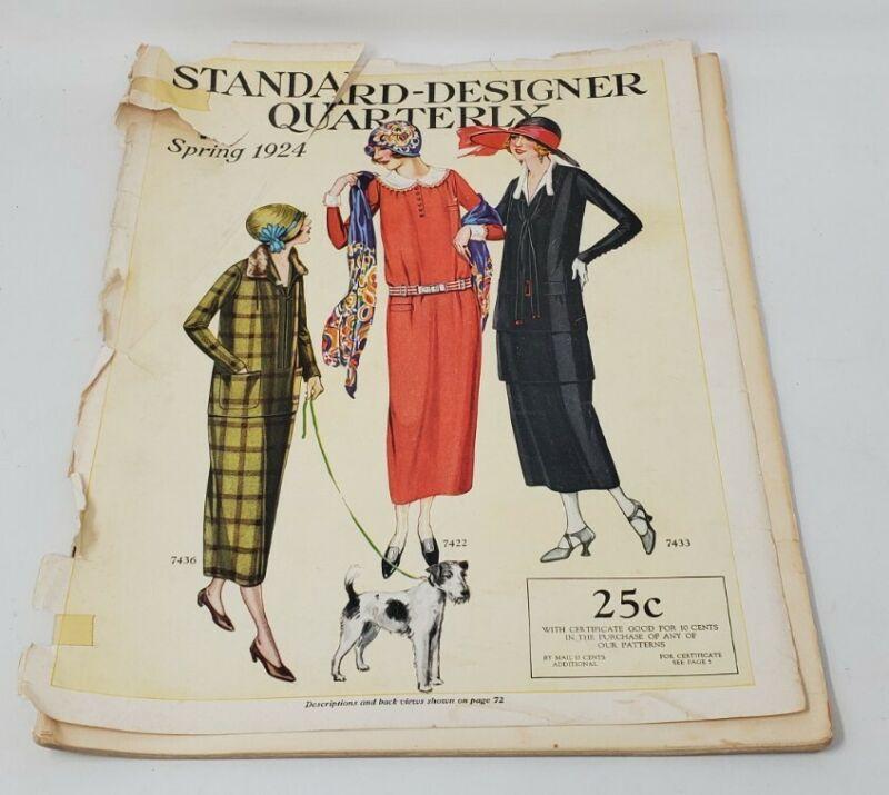 Vintage Standard-Designer Quarterly Magazine Spring 1924 Dressmakers Patterns