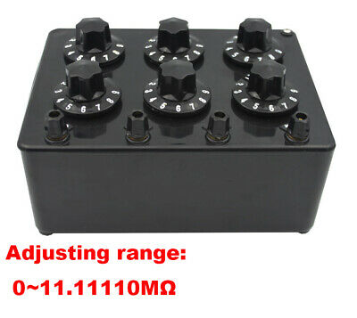 6 Dials Dc Bridges Resistance Box Testing Equipment Decade Resistor Zx21e