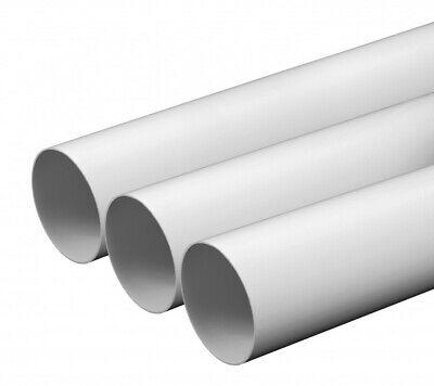 Lüftungskanal (Lüftungsrohr Rundkanal 100 125 150 mm PCV Rohr 0,5m 1m 1,5m Abluftrohr)