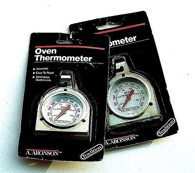 set of 2 oven thermometer analog usa