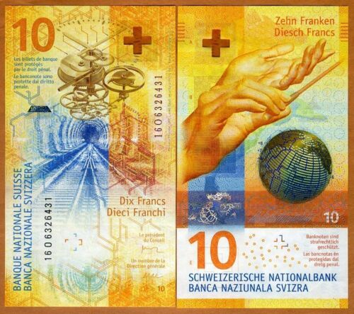 Switzerland, 10 Francs, 2016 (2017), P-75  Spectacular Hybrid Polymer, UNC