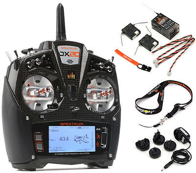 Spektrum Dx20 Dx 20 20 Channel Dsmx Transmitter W  Ar9020 Receiver Md2 Spm20000
