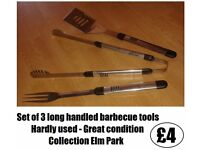 *** SET OF 3 BARBECUE TOOLS ***