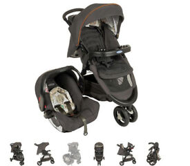 graco fast action fold travel system-bowtie bear