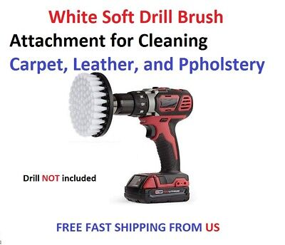 White Soft Drill Brush Attachment for Cleaning Carpet, Leather, and Ppholstery