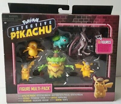 DETECTIVE PIKACHU Box 6 Mini Figure Pokemon Multi Pack Personaggi Originali WCT