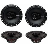 "4) New Rockford Fosgate R165X3 6.5"" 90W 3 Way Car Audio Coaxial Speakers Stereo"