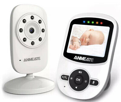 Video Baby Monitor With Digital Camera ANMEATE SM24 Digital 2.4Ghz New