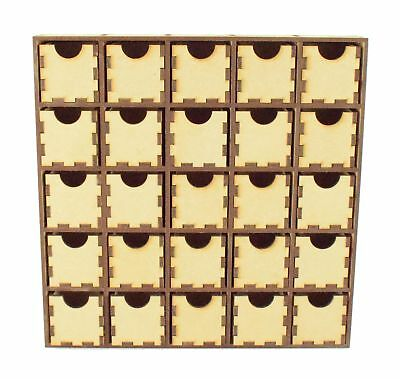 Wooden MDF Plain Christmas Craft Advent Calendar Drawers Countdown - 25 Drawers