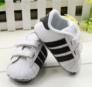 Toddler Baby Boy Girl White Soft Sole Crib Shoes Infant Sneakers 0 ...