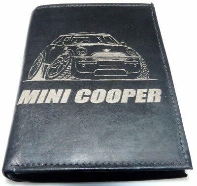 MINI COOPER S BMW Tuning Leder Geld Börse Comic Grafik Geldbeutel Geldbörse Geil, gebraucht gebraucht kaufen  Alkersleben