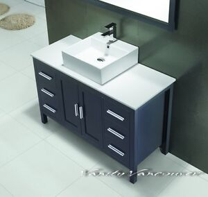 ⎷⎛Contemporary Bathroom Vanity & Cabinet Blazing Jewel BB48/60S
