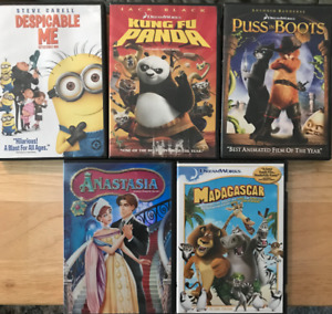 Kids Animated Movies Lot (DVDs)