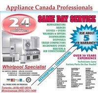 APPLIANCE SERVICE AVAILABLE WITHIN A HOUR!!!(416)-487-9016