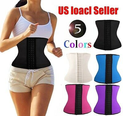 BEST Latex Rubber Waist Trainer Cincher Underbust Corset Body Shaper