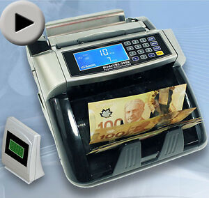 NEW Polymer &Paper Canadian Currency Bill Counter Plastic CAD US