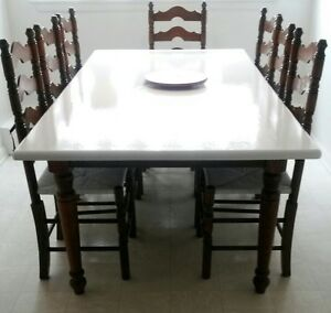Solid Oak Harvest Table Chairs