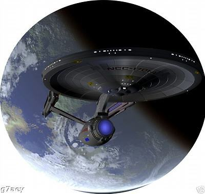 STAR TREK ENTERPRISE ORIGINAL SHIP ROUND FRIDGE MAGNET