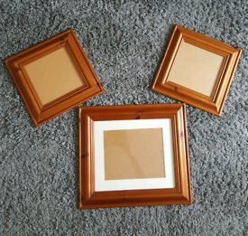 3 large wooden picture frames