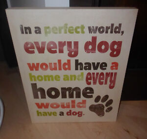 Canvas picture for dog loving home Kitchener / Waterloo Kitchener Area image 1
