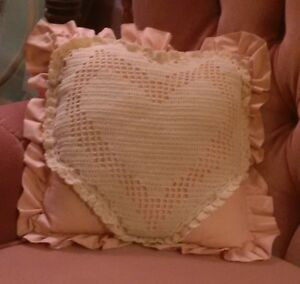 Peach Heart Pillow