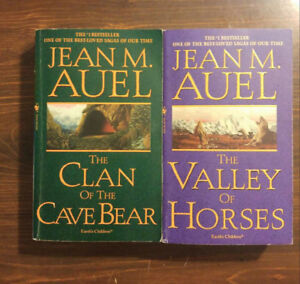 First 2 'Clan of the Cave Bears' Books by Jean M. Auel