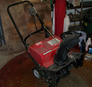 "Murray 12 amp / 20"" electric snow blower"
