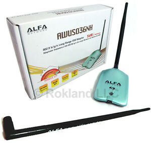 Alfa-AWUS036NH-2000mW-USB-Wi-Fi-Wireless-N-Adapter-9-dBi-ANTENNA-ARS-N19-KIT
