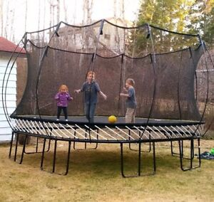 Springfree Jumbo Square Trampoline and Accessories - Like New