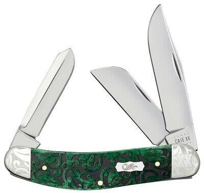 Case xx Sowbelly Knife Heartleaf Bermuda Green Bone 60327 Scrolled