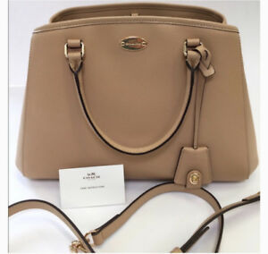 LEATHER COACH PURSE: Margo Caryall