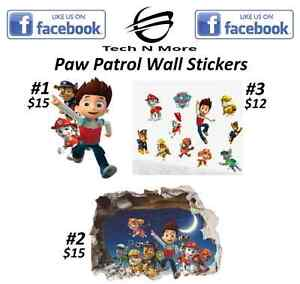 Paw Patrol Big & Small Wall Stickers	(3 Different Stickers)
