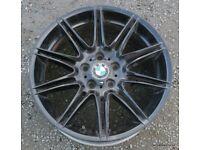 """Single BMW MV4 Front 19"""" x 8j Alloy Wheel E90 E91 E92 M Sport E93 F30 F31 E46"""