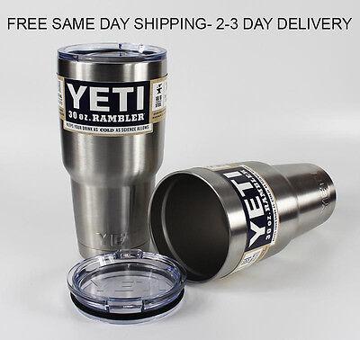 Yeti Rambler 30 oz Tumbler Stainless Steel Cup Coffee Mug- Free Fast Ship!!
