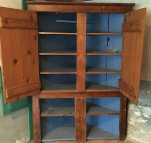 Antique Pine Corner Cupboard Kitchener / Waterloo Kitchener Area image 1