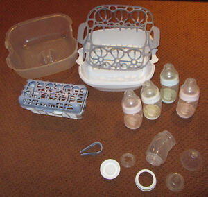 5 Playtex VentAire Bottles and Sterilizer