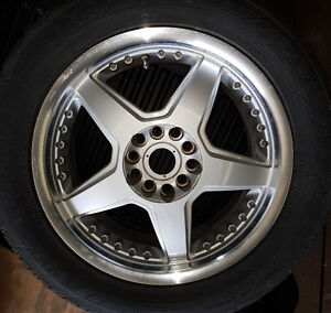 Set of Wheels and Tires
