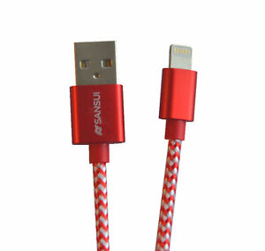 Wholesale Brand New iPhone Micro USB 2 in 1 Data Cable-Red Color