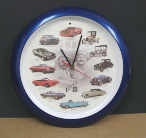"GM 13"" Wall Clock with Car Sounds"