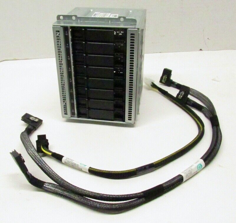 "HP HPE 874978-001 8-Bay SFF Gen9 2.5"" Mini-SAS Hard Drive Cage 765756-001"