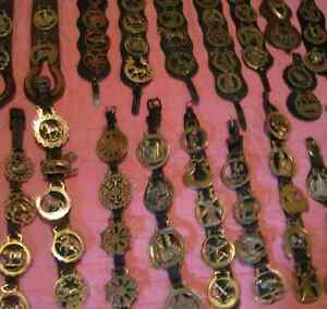 Large collection of 91 horse brasses
