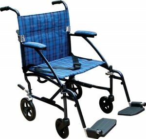 new in box transport wheelchair folding & light weight for more