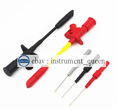 4mm Banana Flexible Silicone Back Pin Red Black Graytest Probe Spring Load