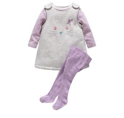 Autumn Winter Thick Baby Girl Clothing Rompers 3Pcs Sets Cartoon Legging Outfits - Thick Girl Outfits