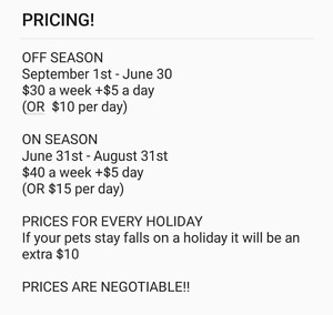 REASONABLY PRICED CAGED PET SITTER
