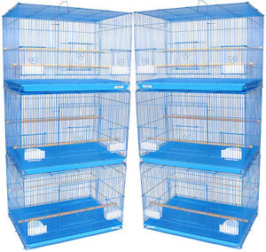 YML Lot of 6 Small Breeding Cages, Blue