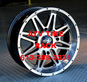 "MSA M26 Vibe Canada (DARK TINT) 14"" Wheels setof4 ATV TIRE RACK"