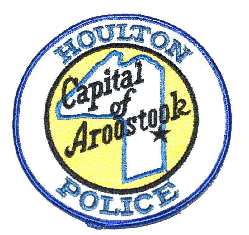 HOULTON – CAPITAL OF AROOSTOOK – MAINE ME Sheriff Police Patch CITY STAR ~